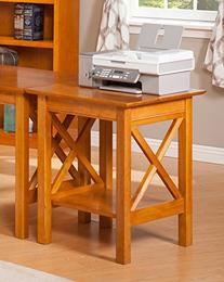 Lexi Printer Stand with Shelf, Caramel Latte