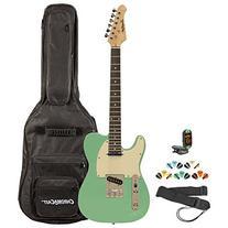 Sawtooth ST-ET-LH-SGRW-KIT-2 Left Handed Electric Guitar,