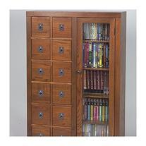 Leslie Dame Library Media Storage Unit - Dark Oak