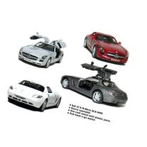 "Official Licensed Product - Set of 4: 5"" Mercedes Benz SLS"