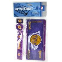Official Licensed NBA Lakers Study Kit 4 Pc Stationary
