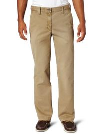 Haggar Men's Life Khaki Sand Washed Straight Fit Chino,Camel