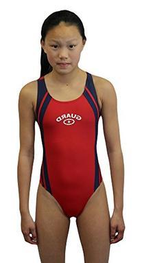 Adoretex Womens Lifeguard Wide Strap Splice Swimsuit One