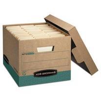 Bankers Lift-off Lid R-Kive Max Storage Box, Kraft/Green,