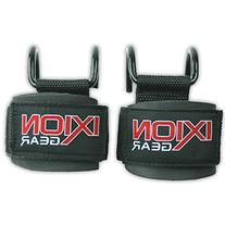 Weight Lifting Hooks with Supporting Wrist Wraps