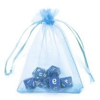 BCP 100-Pieces Light Blue Color Organza Drawstring Gift Bag