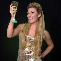 Light Up Champagne Glass with Color Changing LED Light &