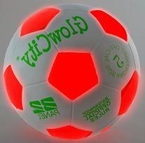 Light Up LED Soccer Ball - Uses 2 Hi-Bright LED Lights, Size