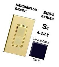 Leviton Light Switch, Decora Rocker Switch, 4Way Black