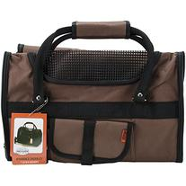 Prefer Pets Light Weight Soft Sided Pet Carrier, Chocolate