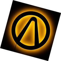 Lighted Borderlands Logo Sign - LED Backlit Gamer Theme Wall