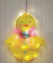 Lighted Geo Mesh Chick