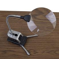 Ivation LED Lighted 2x Magnifier With 2 Flexible Helping