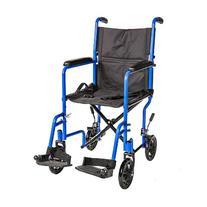 """Healthline Trading 19"""" Lightweight Transport Wheelchair W/"""