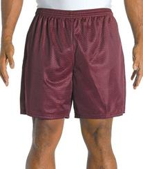 "A4 7"" Lined Tricot Mesh Shorts, Maroon, Medium"