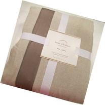 Pottery Barn LINEN With SILK TRIM Duvet Cover King/