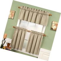 "Linen 36"" Long Fleetwood Rod Pocket Tier Curtain Pair By"