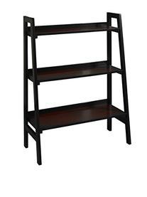 Linon Camden Black Cherry 3-shelf Bookcase