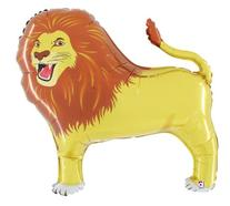 "LION 41"" BALLOONS BIRTHDAY BABY SHOWER ZOO KING OF JUNGLE"