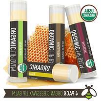 Lip Balm - 4 Pack - La Lune Naturals USDA Certified Organic