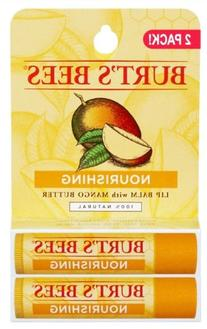 Burt's Bees Nourishing Lip Balm with Mango Butter 2 Pack 2/0