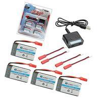 HOBBYTIGER 3.7V 800mAh Lipo Battery + 4 in 1 Batteries