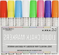 Fluorescent Liquid Chalk Markers  By Kassa - Child Safe  - 2