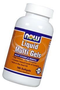 Now Foods Liquid Multi Softgels, 180-Count