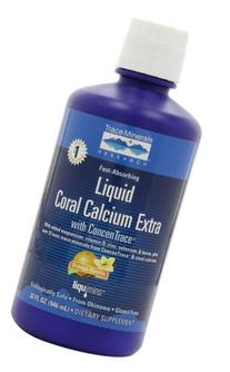 Liqumins Dietary Supplement, Liquid Coral Calcium Extra, 32
