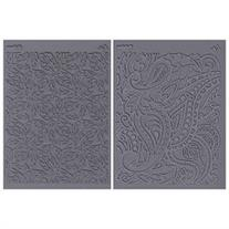 Lisa Pavelka Stamp Set 4.25X5.5 Sheets 2/Pkg-Flow-Foliage &