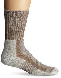 Thorlos Mens Lite Hiking Moderate Padded Crew Socks,Walnut