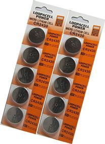 Loopacell Lithium Battery CR2430 - 10 Pcs Pack - 2 Blisters
