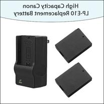 2 Pack of High Capacity Lithium-Ion Canon LP-E10 Extended