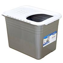 Petmate Inc-Top Entry Litter Pan- Nickel-pearl 20 X 15 X 15