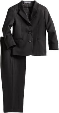 Perry Ellis Little Boys' Dresswear Suit, Black, 4
