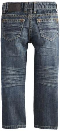 Buffalo Little Boys' Driven Straight Leg Distressed and Worn