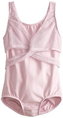 Danskin Little Girls' Leotard with Iridescent Faux Mesh Wrap