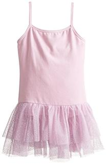 Danskin Big Girls' Leotard with Attached Glitter Tutu,