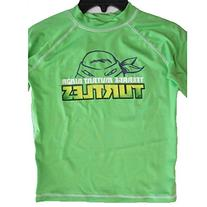 Ninja Turtle Little Boys Lime Green Stretchy Printed Swim