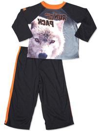 Animal Planet - Little Boys Long Sleeve Pajamas, Black 29951