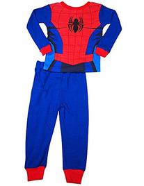 Spiderman - Little Boys Long Sleeve Spiderman Pajamas, Royal