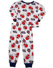 Spiderman - Little Boys Long Sleeve Spiderman Pajamas, White