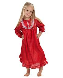 Laura Dare Baby Girls Red Long Sleeve PJ Nightgown, 12m