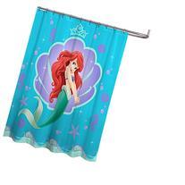 "Disney Little Mermaid Ariel 70"" x 72"" Fabric Shower Curtain"