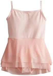 Danskin Little Girls' Mesh Skirt Leotard, Petal Pink, Small