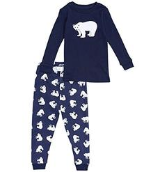 "Leveret Little Boys ""Polar Bear"" 2 Piece Pajama Set 100%"