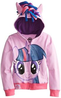 My Little Pony Little Girls' Twilight Sparkle Hoodie, Purple
