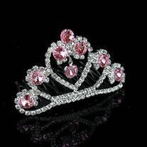 Little Princess Pink Crystal Girls Hair Tiara Crown Small