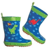 Stephen Joseph Little Boys' Rain Boot, Dino, 7