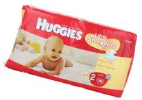 Huggies Little Snugglers Diapers, Size 2, 12-18 lb, 36 Count